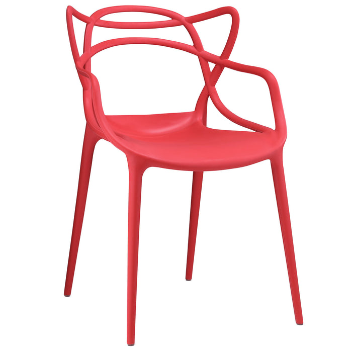 Entangled Dining Armchair in Red by Modway
