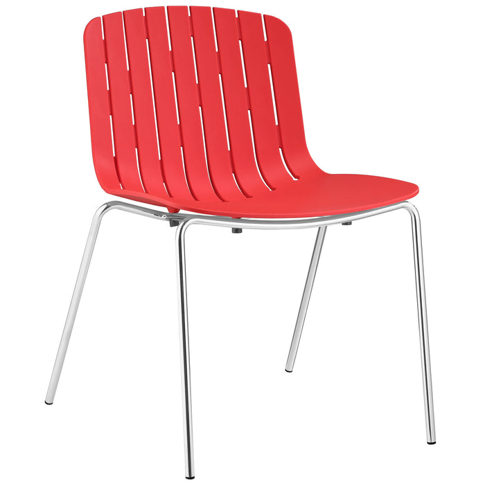 Trace Dining Side Chair in Red by Modway