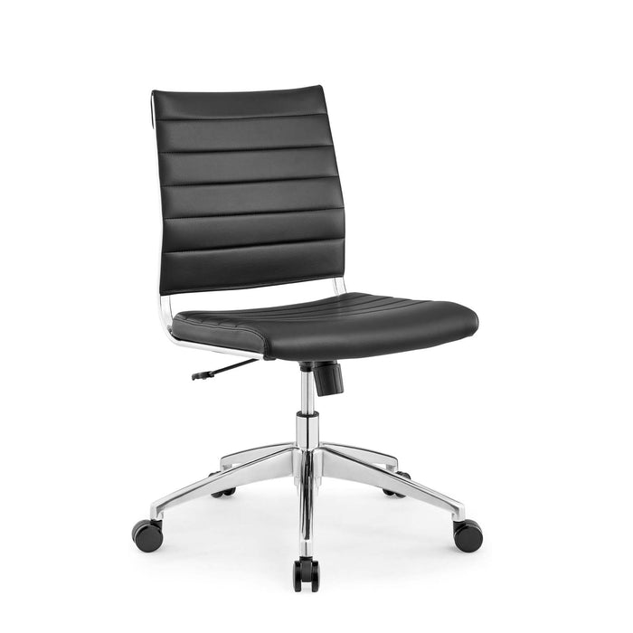 Jive Armless Mid Back Office Chair in Black by Modway
