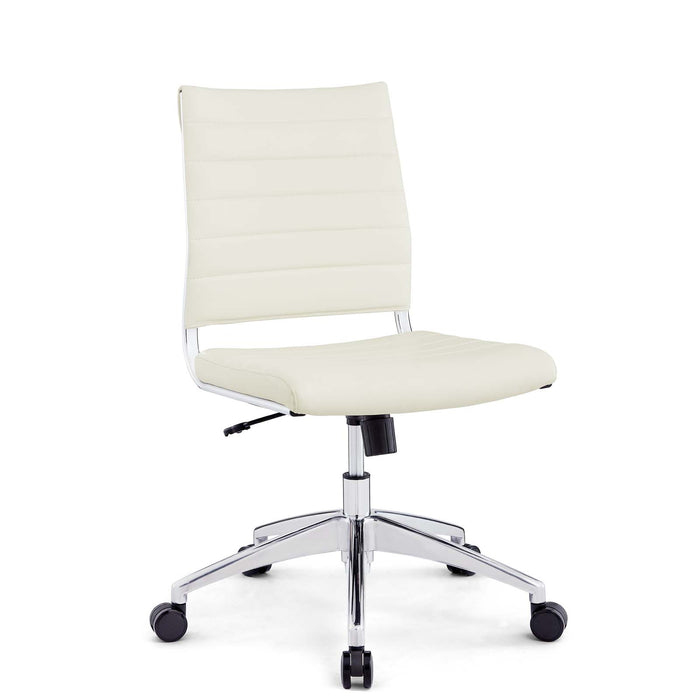 Jive Armless Mid Back Office Chair in White by Modway