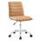 Ripple Armless Mid Back Vinyl Office Chair in Tan by Modway