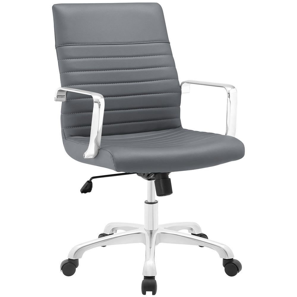 Finesse Mid Back Office Chair in Gray by Modway