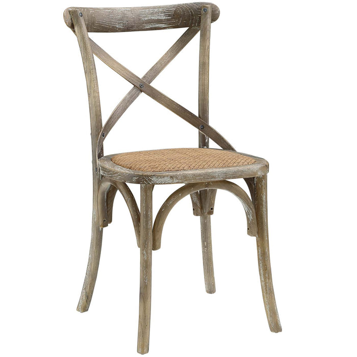 Gear Dining Side Chair in Gray by Modway