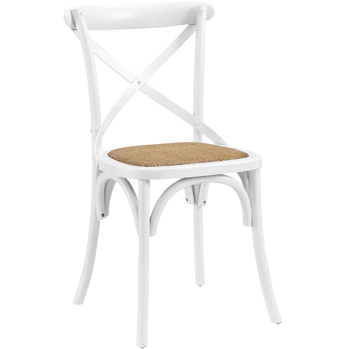 Gear Dining Side Chair in White by Modway