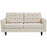 Empress Upholstered Fabric Loveseat in Beige by Modway