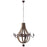 Ballista Chandelier in Antique Brass by Modway