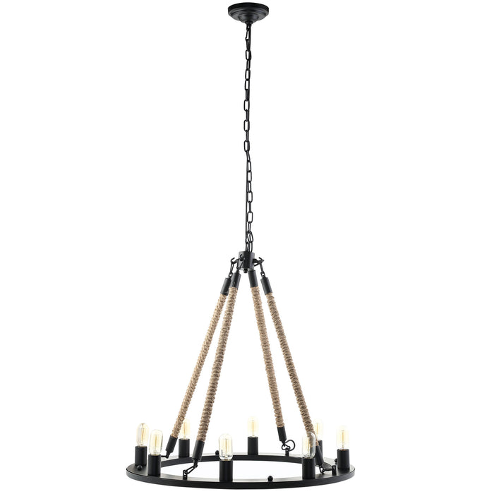 Encircle Chandelier in Black by Modway