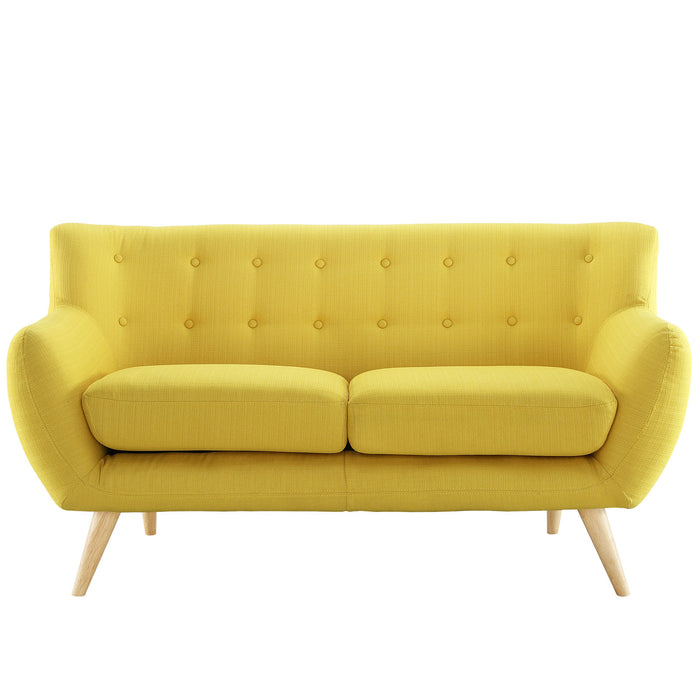 Remark Upholstered Fabric Loveseat in Sunny by Modway