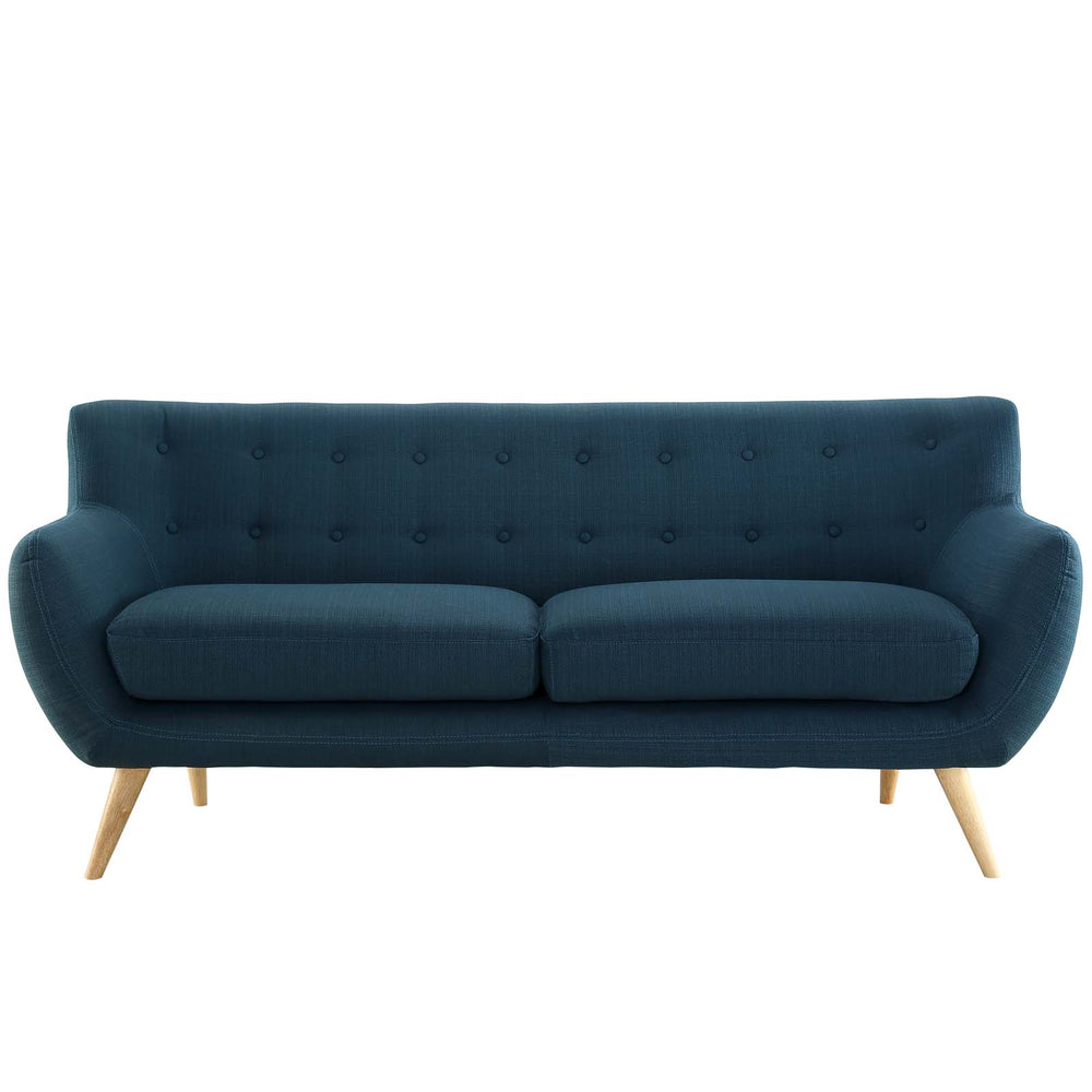 Remark Upholstered Fabric Sofa in Azure by Modway