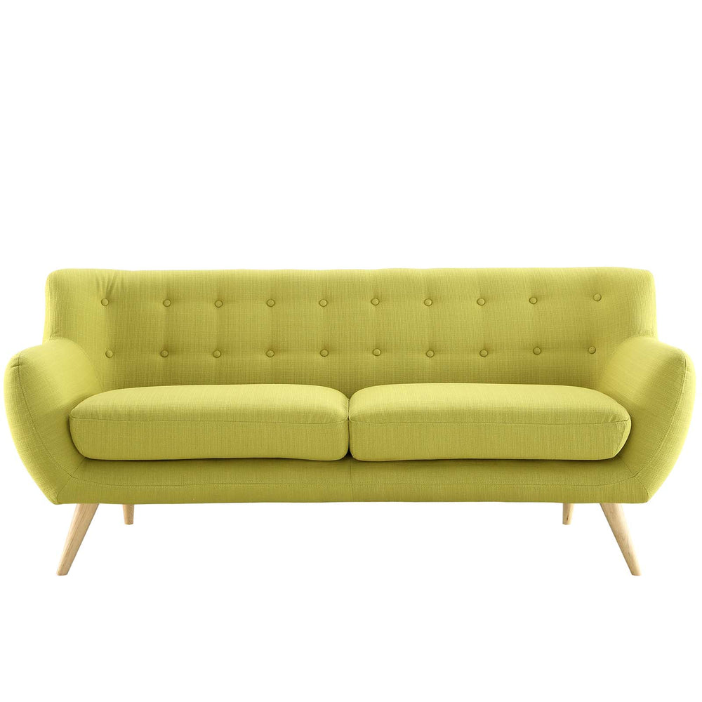Remark Upholstered Fabric Sofa in Wheatgrass by Modway