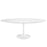 "Lippa 78"" Oval Wood Top Dining Table in White by Modway"