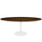 "Lippa 78"" Oval Wood Dining Table in Walnut by Modway"
