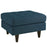 Empress Upholstered Fabric Ottoman in Azure by Modway