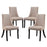 Reverie Dining Side Chair Set of 4 in Beige by Modway