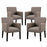 Chloe Armchair Set of 4 in Gray by Modway