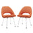 Cordelia Dining Chairs Set of 2 in Orange by Modway