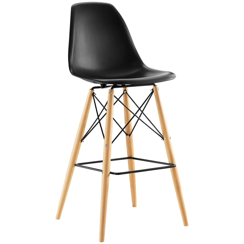 Pyramid Bar Stool in Black by Modway