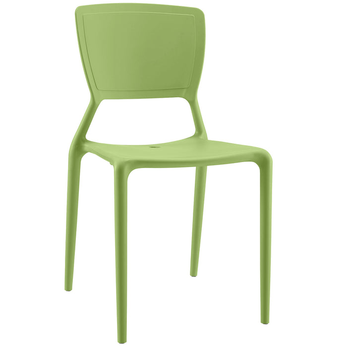 Fine Dining Side Chair in Green by Modway