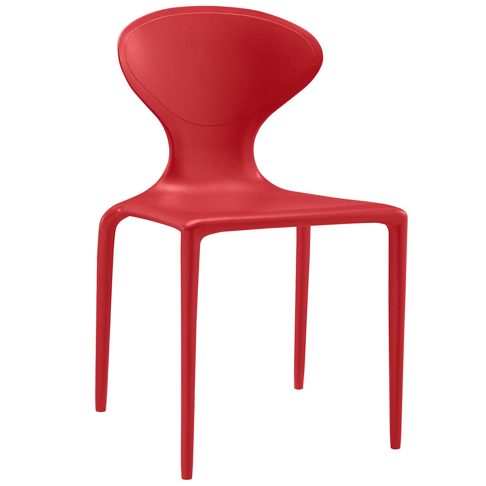 Draw Dining Side Chair in Red by Modway