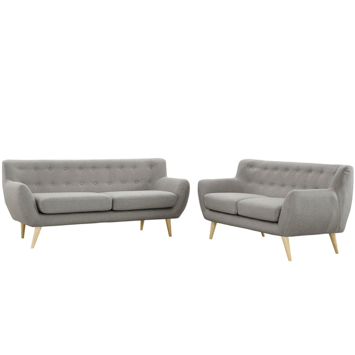 Remark 2 Piece Living Room Set in Light Gray by Modway
