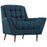 Response Upholstered Fabric Armchair in Azure by Modway