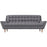 Response Upholstered Fabric Sofa in Gray by Modway