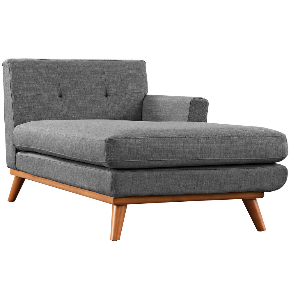 Engage Right-Facing Chaise in Gray by Modway