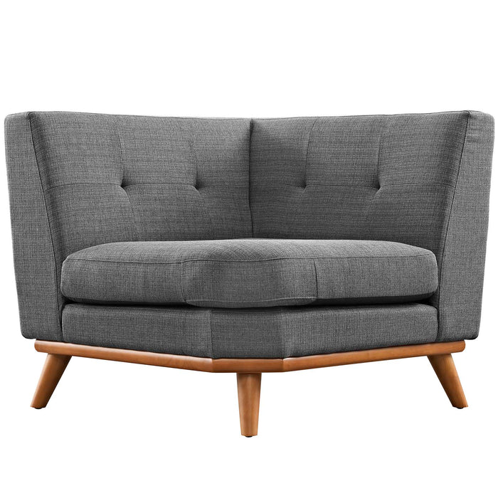 Engage Corner Sofa in Gray by Modway