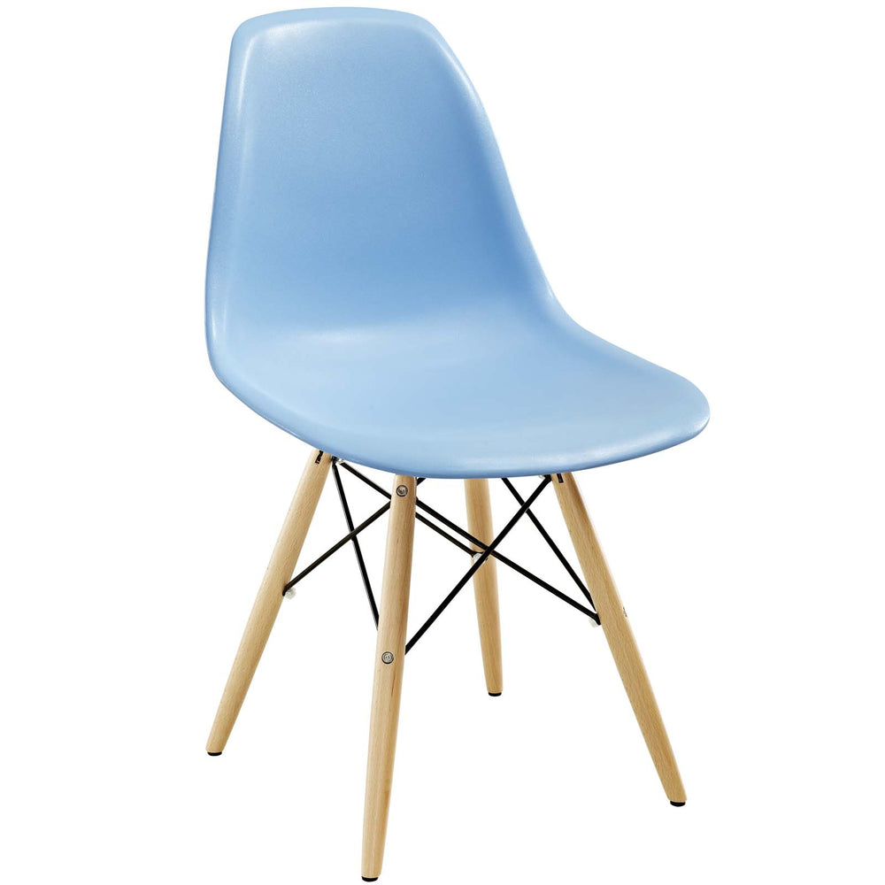 Pyramid Dining Side Chair in Light Blue by Modway