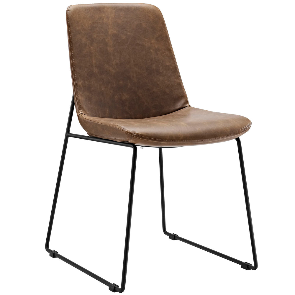 Invite Dining Side Chair in Brown by Modway