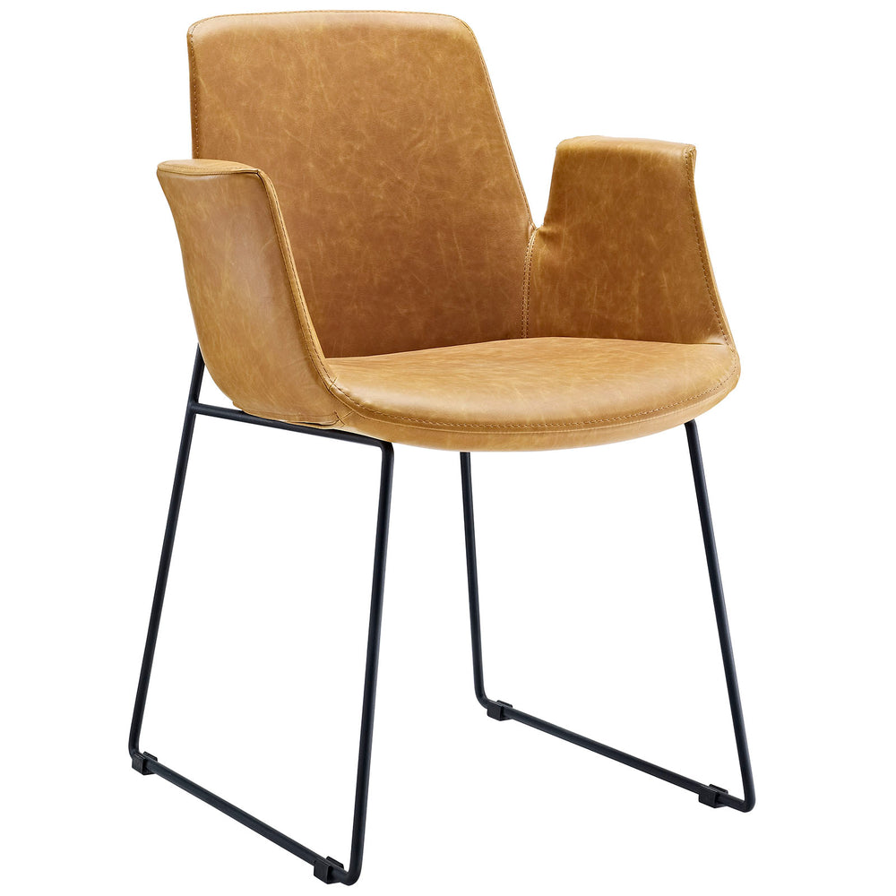 Aloft Dining Armchair in Tan by Modway