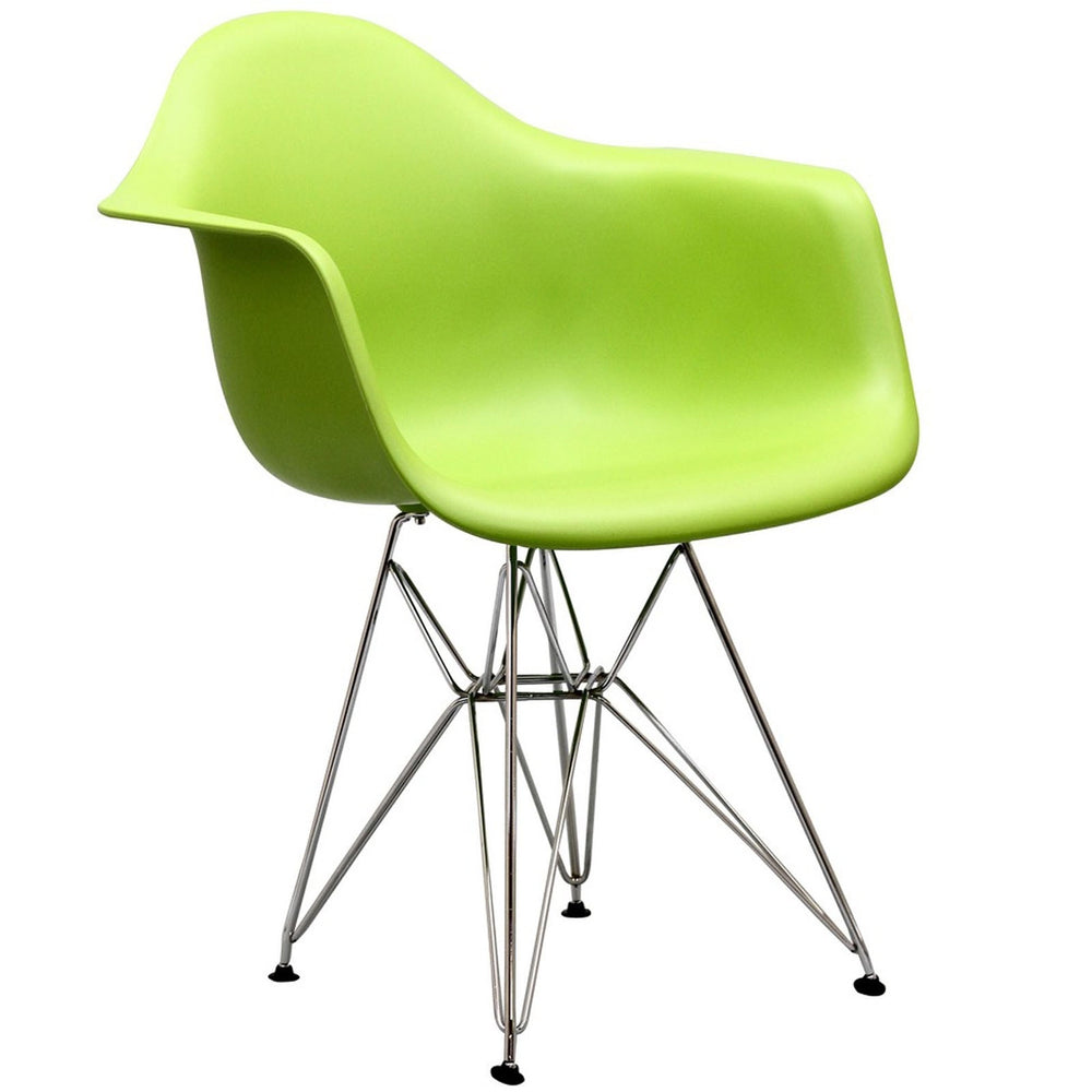 Paris Dining Armchair in Green by Modway
