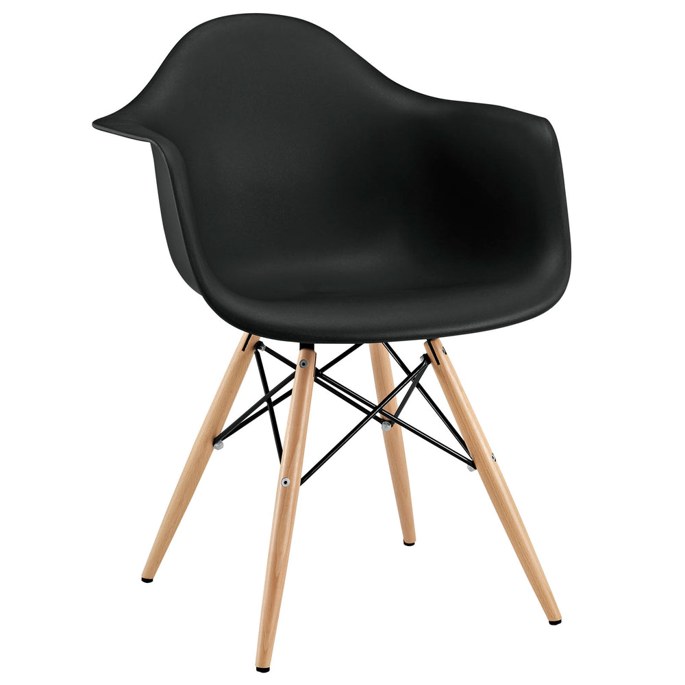Pyramid Dining Armchair in Black by Modway