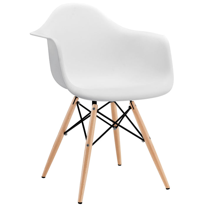Pyramid Dining Armchair in White by Modway