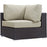 Convene Outdoor Patio Corner in Espresso Beige by Modway