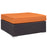 Convene Outdoor Patio Large Square Ottoman in Espresso Orange by Modway