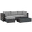 Sojourn 5 Piece Outdoor Patio Sunbrella Sectional Set in Canvas Gray by Modway