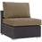 Convene Outdoor Patio Armless in Espresso Mocha by Modway