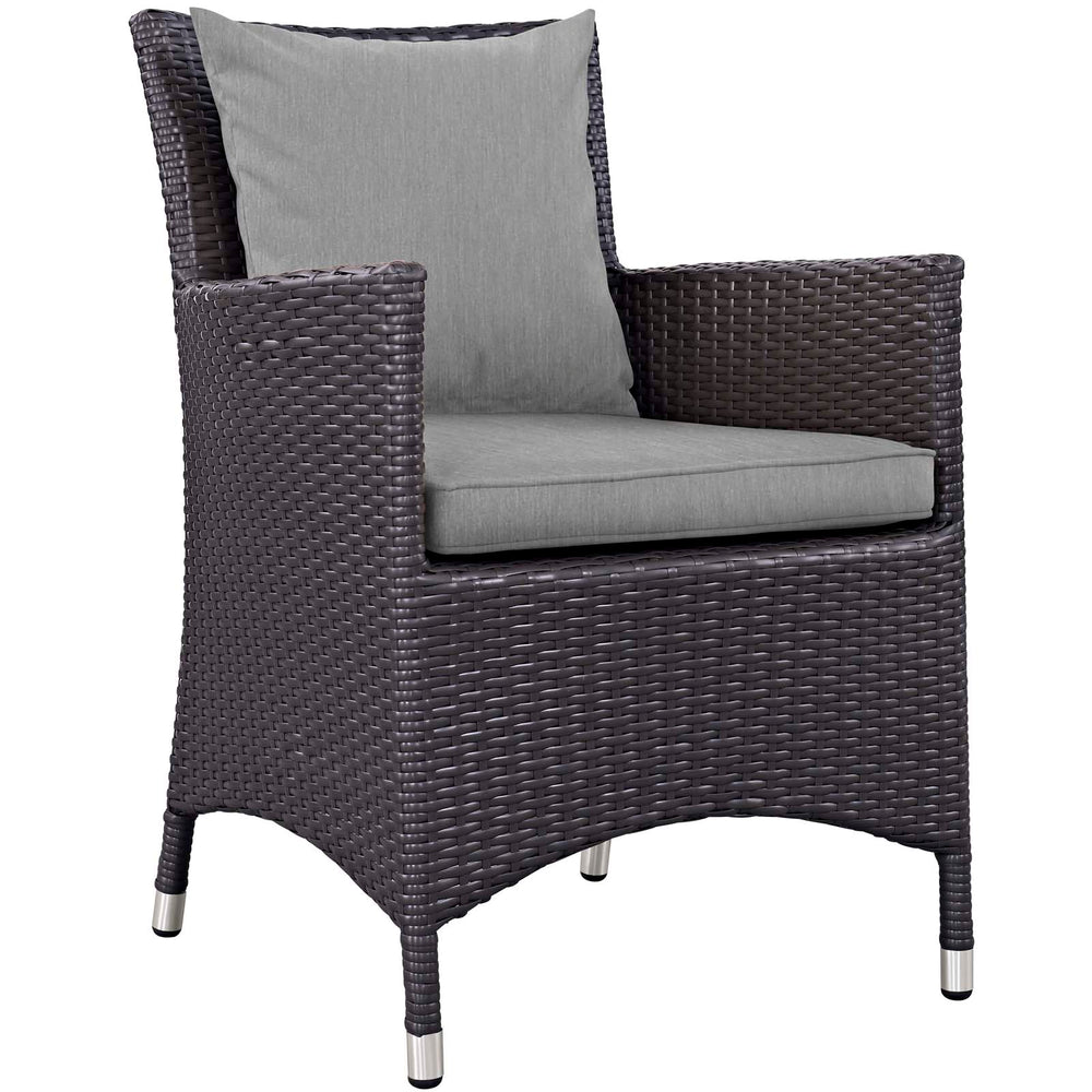 Convene Dining Outdoor Patio Armchair in Espresso Gray by Modway