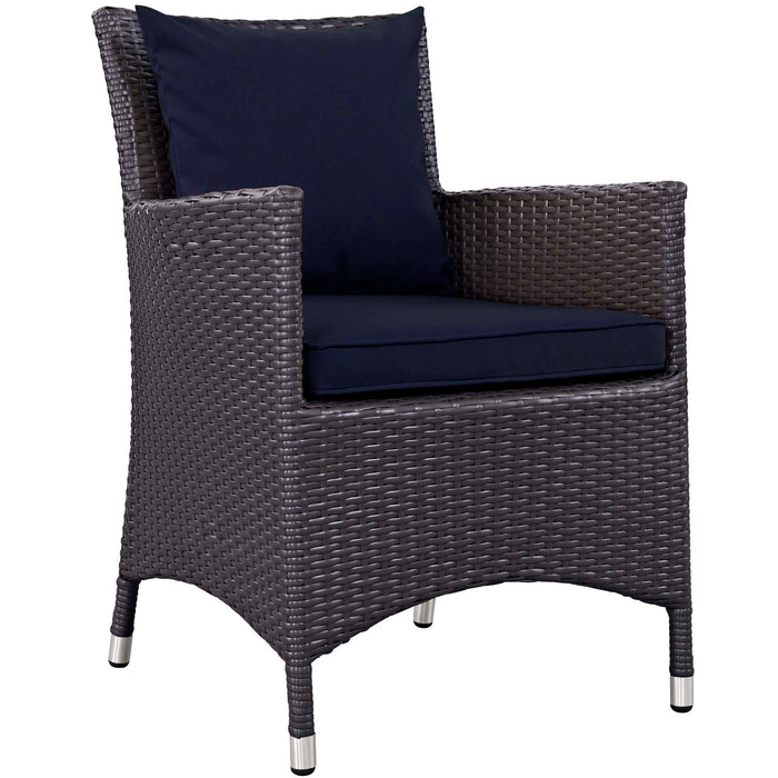 Convene Dining Outdoor Patio Armchair in Espresso Navy by Modway