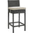 Sojourn Outdoor Patio Sunbrella Bar Stool in Antique Canvas Beige by Modway