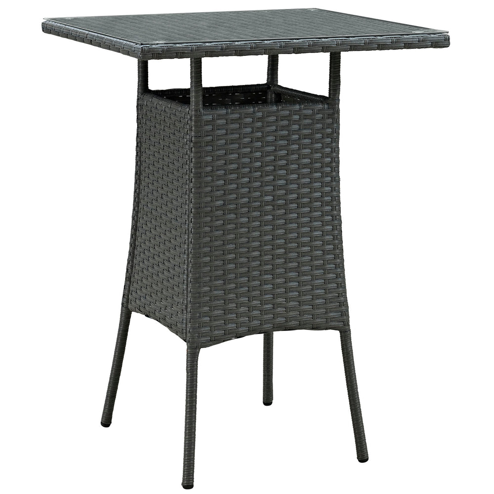 Sojourn Small Outdoor Patio Bar Table in Chocolate by Modway