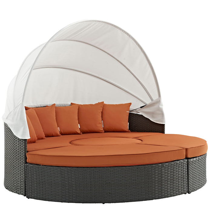 Sojourn Outdoor Patio Sunbrella Daybed in Canvas Tuscan by Modway