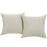 Convene Two Piece Outdoor Patio Pillow Set in Beige by Modway