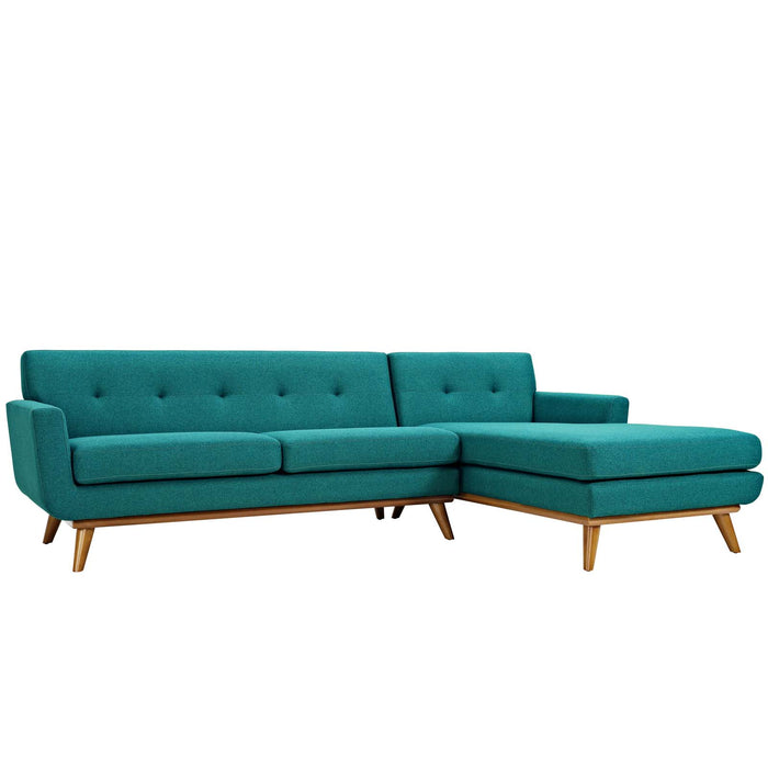 Engage Right-Facing Sectional Sofa in Teal by Modway