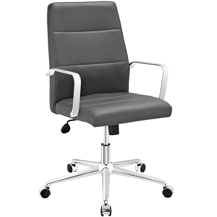 Stride Mid Back Office Chair in Gray by Modway