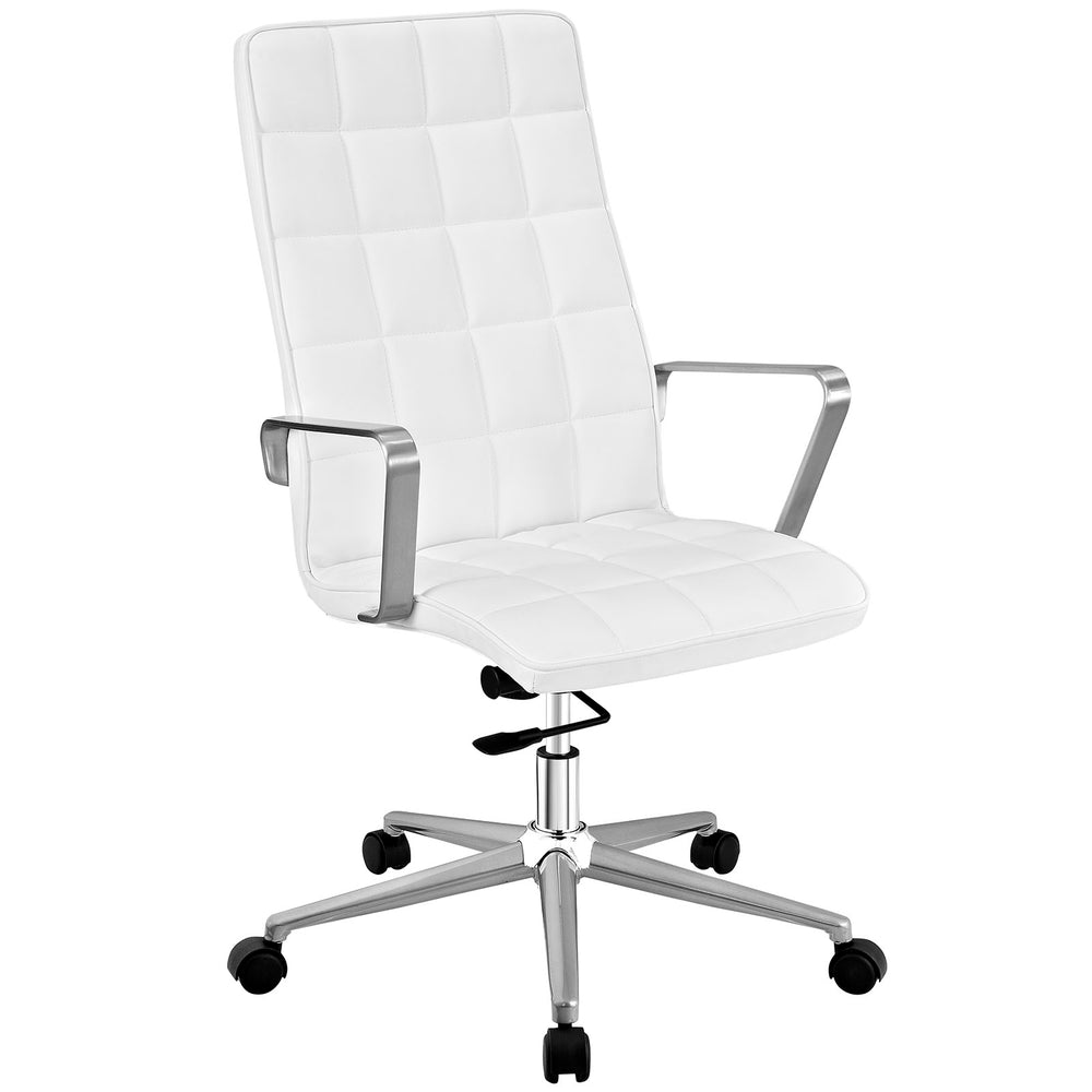Tile Highback Office Chair in White by Modway