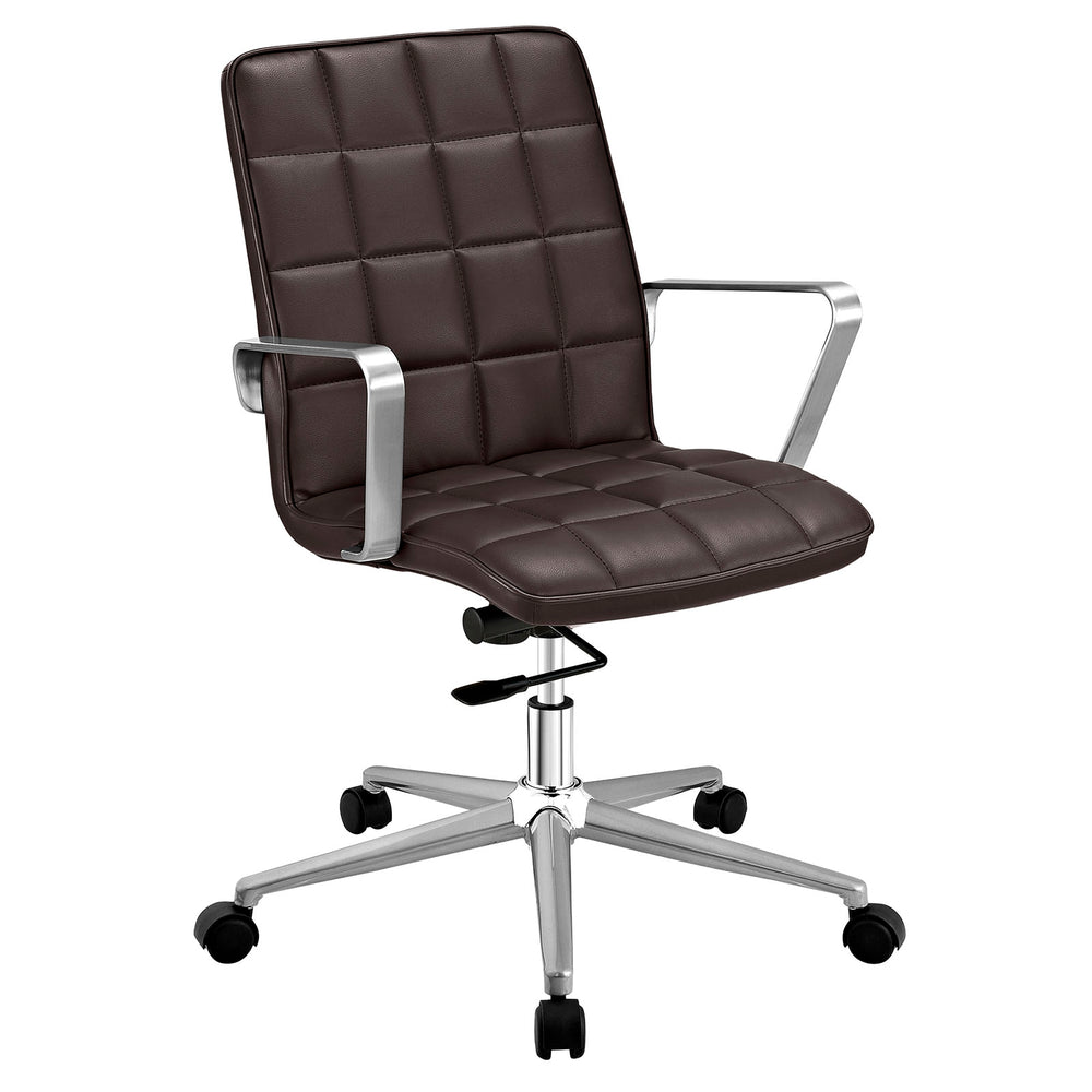 Tile Office Chair in Brown by Modway
