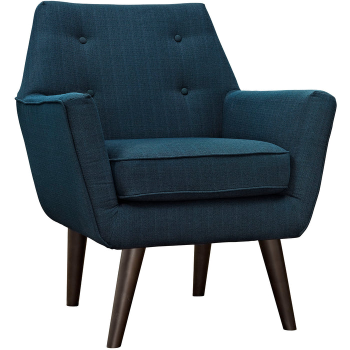 Posit Upholstered Fabric Armchair in Azure by Modway