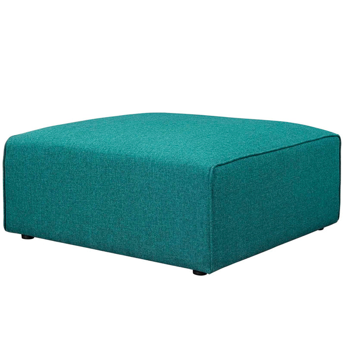 Mingle Fabric Ottoman in Teal by Modway